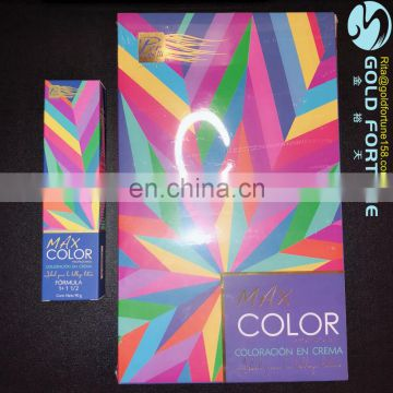 Professional color catalogue and hair color chart for Hair Color Cream/Hair Dye