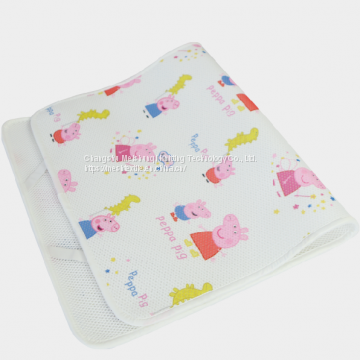 Printed sandwich mesh fabric china factory