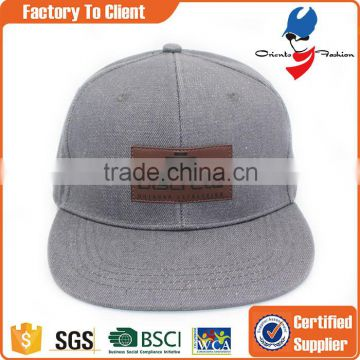 custom leather patch logo snapback hats wholesale                                                                                                         Supplier's Choice