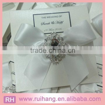 Diy Lace Big Clear Rhinestone Wedding Invitation Anniversary Cards