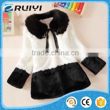 new arrival girls wholesale children clothes man-made fur winter overcoat