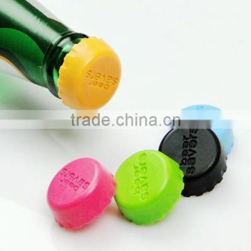 Reusable glass bottle with silicone stopper