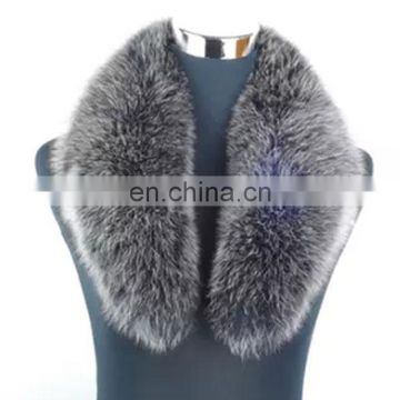 Luxury men women genuine fox fur shawl collar for garment/coat decoration