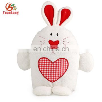 China import stuffed animal pet toy standing plush rabbit with loving heart