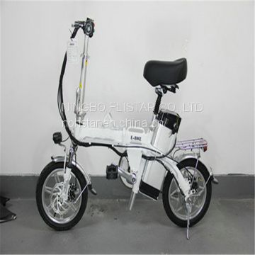 Folding mini electric bicycle with lithium iron battery