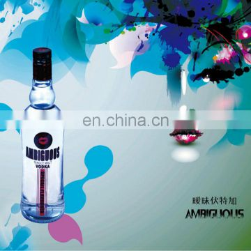 China manufacturer promotion wholesale vodka wholesale 700ml vodka with private label vodka bottle