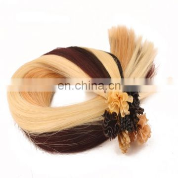 Alibaba.com hot selling U tip hair factory direct wholesale human hair Indian pre-bonded hair