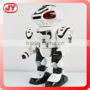 Educational b/o plastic robot toy with light and music