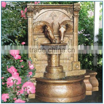 Antique Hand Made Bronze Horse Wall Fountain