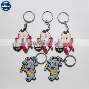 Promotional custom soft pvc keyring with logo