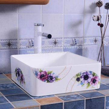 Good sale new design colorful above counter wash hand basin sink from chaozhou manufacturer