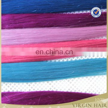 Newest double drawn tape hair extension blue tape hair weave