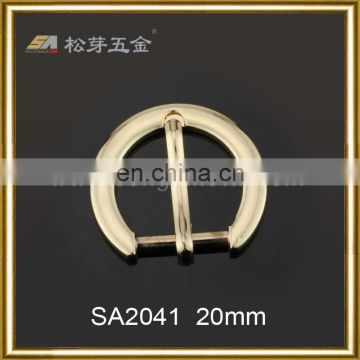 Song A Metal glazed Latest design quality belt buckle fashion half round shape 20mm pin belt buckle