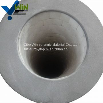 Ceramic factory ceramic lined bend pipe pipe fitting names and parts