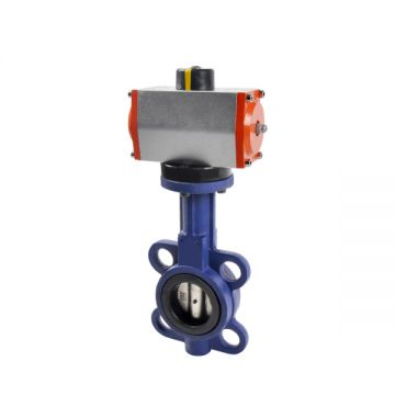 Low Pressure Pulp Paper Pneumatic Operated Butterfly Valve
