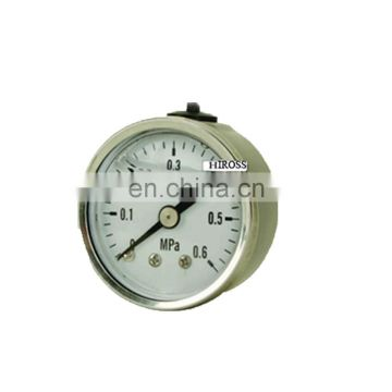 HIROSS Supply Standard Size 304 stainless steel Pressure Gauge