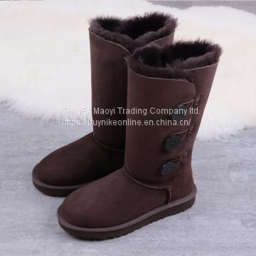 UGG Bailey Button Triplet II 1873 For Women in Chocolate