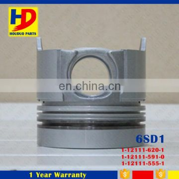 Diesel Engine Spare Parts 6SD1 Piston With Pin 1-12111-620-1
