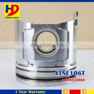4TNE106T Engine Piston Part Excavator Spare Parts OEM No 123901-22080