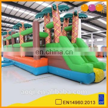 AOQI commercial use coco inflatable sphere obstacle game for sale