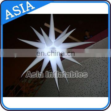 Colorful night decoration inflatable led light star ball/balloon