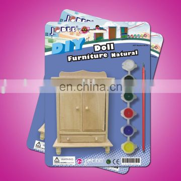DIY Painting Toy for mini furniture with color paint