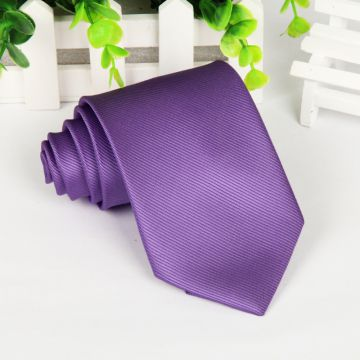 Self-fabric Blue Polyester Woven Necktie Stwill Adult