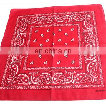 Wholesale Promotional fashionable lady printed cotton bandana scarf