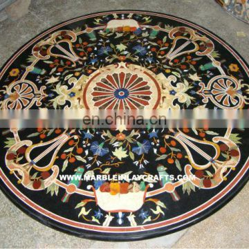 Black Stone Marble Table Top