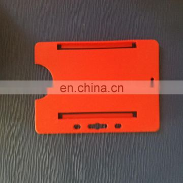 Open face hard plastic pass card holder pantone number colored