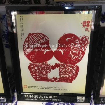 bring in wealth and treasure paper-cut window flower paper-cut figure bring money gift chinese gift business gift