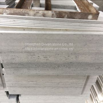 Blue wood marble slab polished marble tiles from China