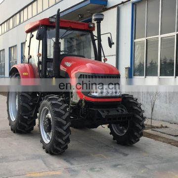 100hp wheel tractor, hydraulic front loader backhoe tractor implements
