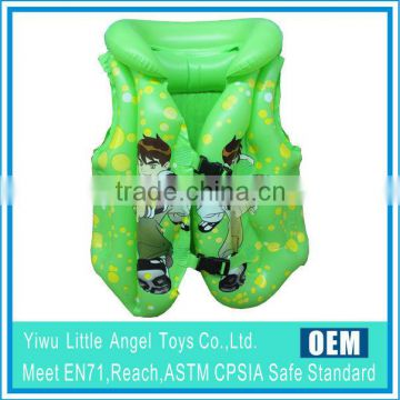 EN71 6P PVC inflatable kids children swimming vest/life vest/swim vest