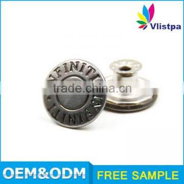 Custom made bulk LOW MOQ! metal snap button