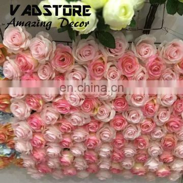 artificial rose flower wall for wedding backdrop or lawn/pillar road lead decoration