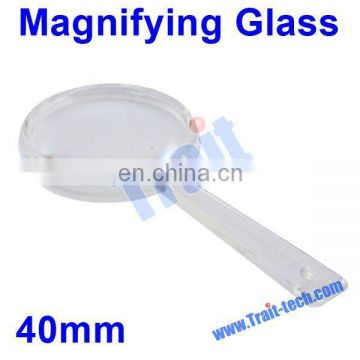 Wholesale Portable Handheld 40mm Plastic Magnifying Glass Loupe for Gift