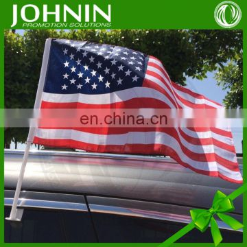 wholesale good quality cheap price promotional america car flag