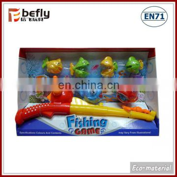 Plastic magnetic fishing pole toy