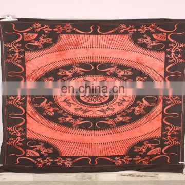Indian Printed lizard design Wall Hanging Indian Mandala Tapestry bedspread
