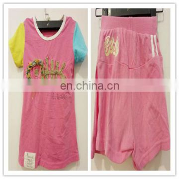 korea quality summer used kid child clothes and cheap baby clothes