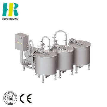 Three basket fruit and vegetable washing machinery commercial wash machines