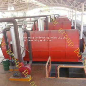 Latest technology waste tire pyrolysis plant