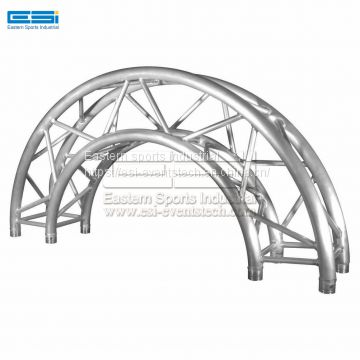 Cheap price best steel DJ design light curved circular round ground support roof aluminum spigot truss system