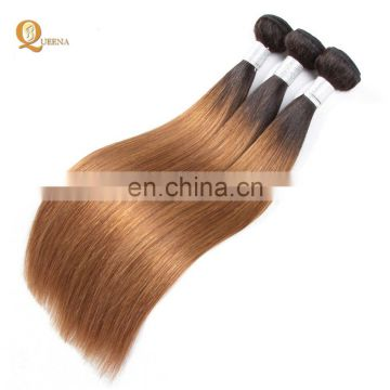 Factory Wholesale Hair Manufacturer Brazilian Ombre Hair Color 4 and 30 Human Hair