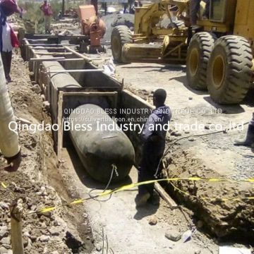 pneumatic tubular formwork exported to kenya Nigeria used for culvert construction