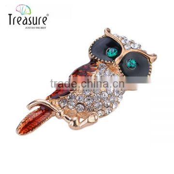 2015 new products New model with high quality artificial eagle brooch, rhinestone brooch wholesale body jewelry