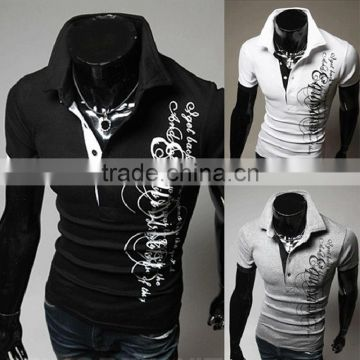 New design Fashion Men's Casual Short Sleeve polo t shirt