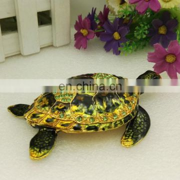 new tortoise trinket tortoise figure enamel tortise green crystal tortoise trinket jewelry boxes