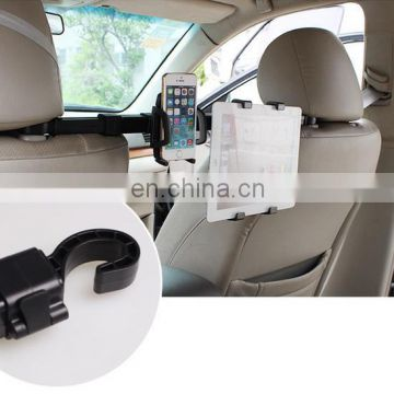 2 in 1 360 Degree Rotation Car Headrest Mount Holder for Tablet and Smartphone for iPad Fit all Under 10 inch Screens